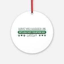 Hugged Entlebucher Ornament (Round)