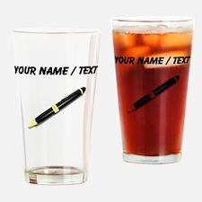 Custom Pen Drinking Glass