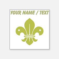 Custom Gold Fleur De Lis Sticker