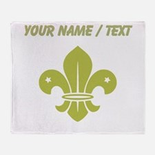Custom Gold Fleur De Lis Throw Blanket
