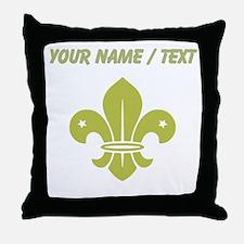 Custom Gold Fleur De Lis Throw Pillow