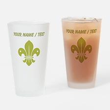 Custom Gold Fleur De Lis Drinking Glass