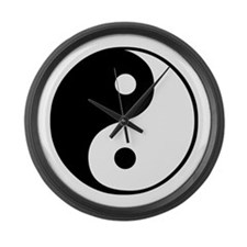 Cute Ying yang Large Wall Clock