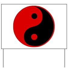 Unique Yin yang Yard Sign