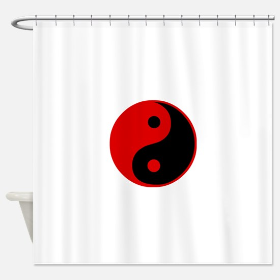 Unique Ying yang Shower Curtain