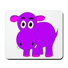 Purple Hippo Mousepad