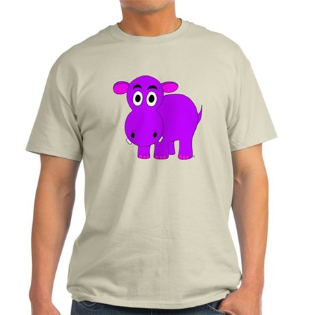 Purple Hippo Light T-Shirt