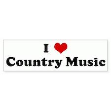 I Love Country Music Bumper Bumper Sticker
