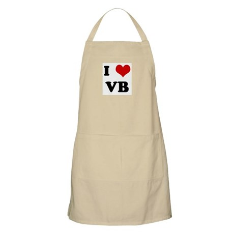 I Love VB BBQ Apron