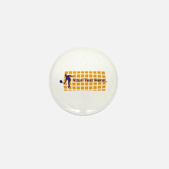 Tennis Fan Orange Mini Button