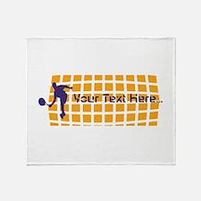 Tennis Fan Orange Throw Blanket