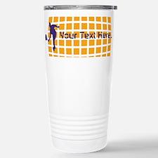 Tennis Fan Orange Stainless Steel Travel Mug