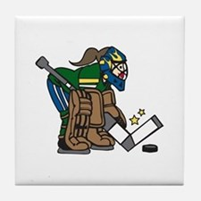 Goalie Girl Tile Coaster