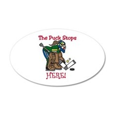 Puck Stops Here Wall Decal