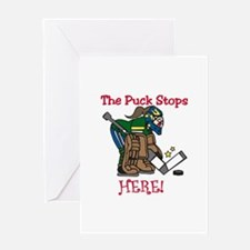 Puck Stops Here Greeting Cards