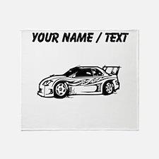 Custom Race Car Throw Blanket