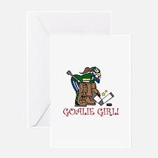 Goalie Girl Greeting Cards