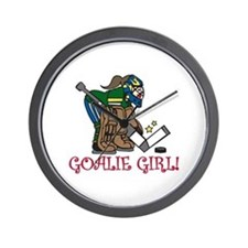 Goalie Girl Wall Clock