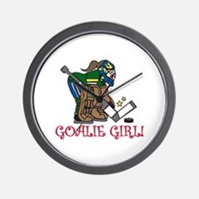 Goalie Girl Wall Clock
