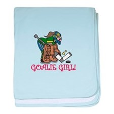 Goalie Girl baby blanket