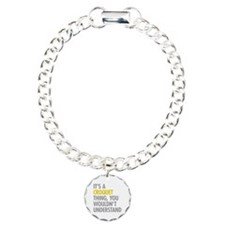 Its A Croquet Thing Charm Bracelet, One Charm