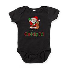 Glaedelig Jul Santa Child Baby Bodysuit