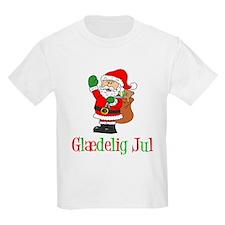 Glaedelig Jul Santa Child T-Shirt
