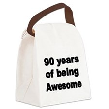 90 years of being Awesome Canvas Lunch Bag
