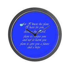 Cute Jeremiah 29 Wall Clock