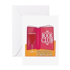 What Happens At Book Club Greeting Cards