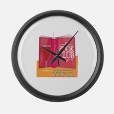 What Happens At Book Club Large Wall Clock
