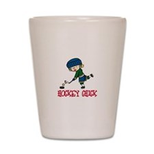 Hockey Chick Shot Glass