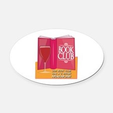 Our Book Club Oval Car Magnet