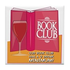 Our Book Club Tile Coaster