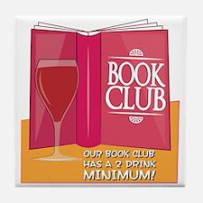 Our Book Club Tile Coaster