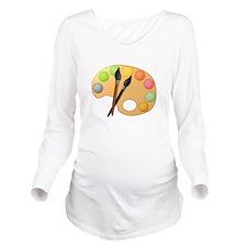 Paint Easel Long Sleeve Maternity T-Shirt