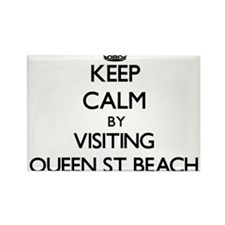 Keep calm by visiting Queen St Beach Delaware Magn