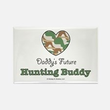 Daddy's Future Hunting Buddy Rectangle Magnet