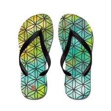 Sacred Geometry Flip Flops