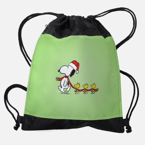 Snoopy And Bird Friends Drawstring Bag
