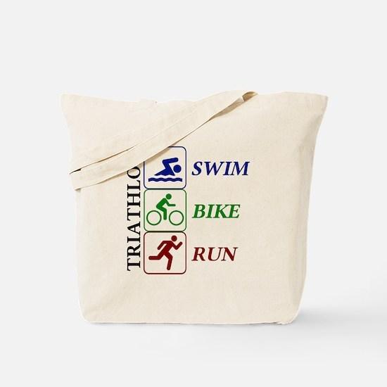 Triathlon Icons Tote Bag
