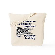 Doberman Pinscher Agility Tote Bag