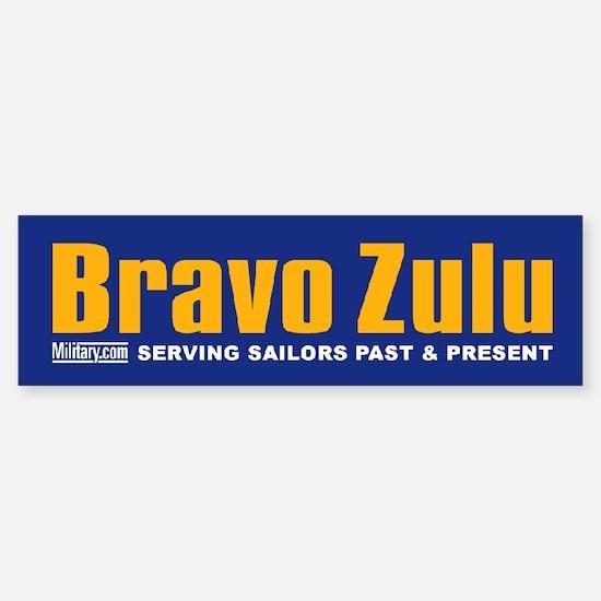 Navy Bravo Zulu Bumper Bumper Bumper Sticker