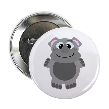 "Goofkins Cute Little Rhino 2.25"" Button (100 pack)"