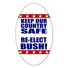 Pro George W. Bush Oval Decal
