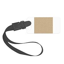 Cardboard Tan Brown Texture Luggage Tag