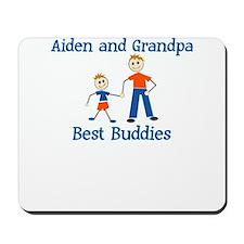 Aiden & Grandpa - Best Buddie Mousepad