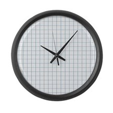 Graph Lined Paper Texture Large Wall Clock