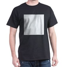 Graph Lined Paper Texture T-Shirt