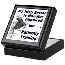 Irish Setter Agility Keepsake Box